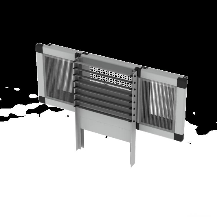 Windventiel Uniflex Combinatie met lichtstraat