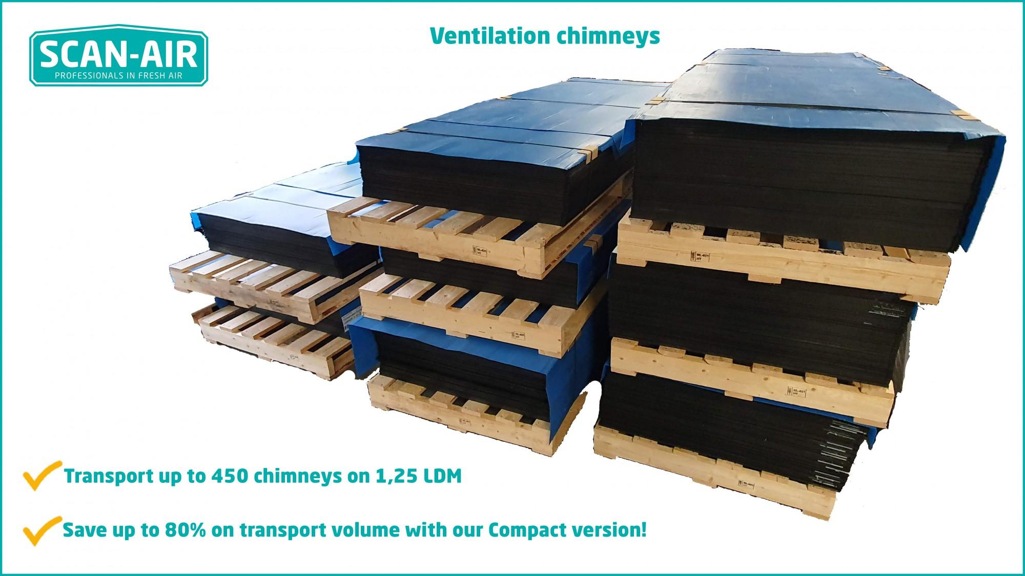 ventilation chimneys compact version scan air